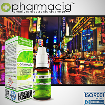 30ml NEW YORK CITY 18mg eLiquid (With Nicotine, Strong) - eLiquid by Pharmacig