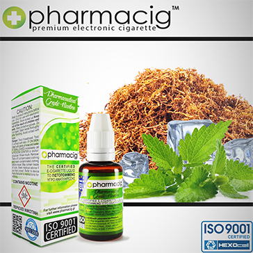 30ml TOBACCO & MINT 9mg eLiquid (With Nicotine, Medium) - eLiquid by Pharmacig