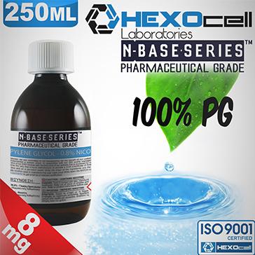 D.I.Y. - 250ml HEXOcell eLiquid Base (100% PG, 8mg/ml Nicotine)