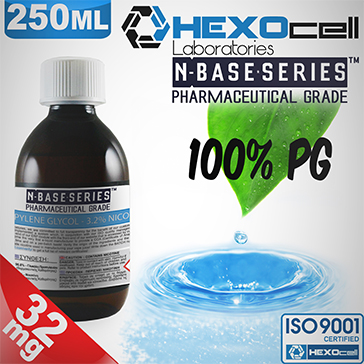 D.I.Y. - 250ml HEXOcell eLiquid Base (100% PG, 32mg/ml Nicotine)