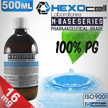 D.I.Y. - 500ml HEXOcell eLiquid Base (100% PG, 16mg/ml Nicotine)