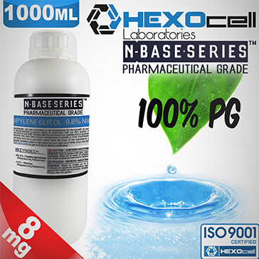 D.I.Y. - 1000ml HEXOcell eLiquid Base (100% PG, 8mg/ml Nicotine)