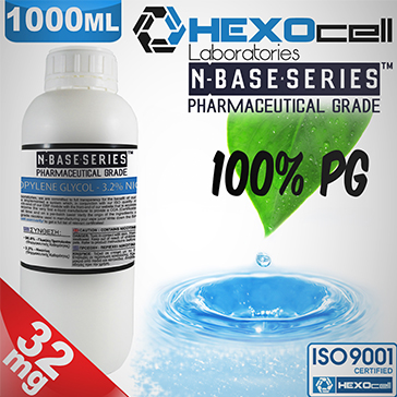 D.I.Y. - 1000ml HEXOcell eLiquid Base (100% PG, 32mg/ml Nicotine)