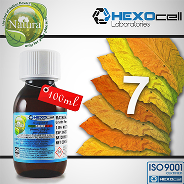 100ml 7 FOGLIE 9mg eLiquid (With Nicotine, Medium) - Natura eLiquid by HEXOcell