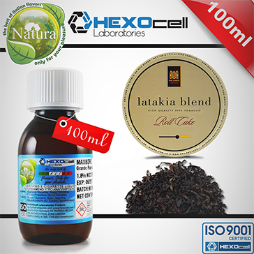 100ml LATAKIA 9mg eLiquid (With Nicotine, Medium) - Natura eLiquid by HEXOcell