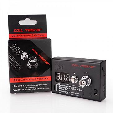 VAPING ACCESSORIES - Coil Master Digital Ohmmeter & Voltmeter