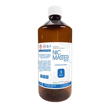 D.I.Y. - 1000ml NIC MASTER eLiquid Base (50% PG, 40% VG, 10% Water, 3mg/ml Nicotine)