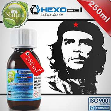 250ml CUBAN SUPREME 9mg eLiquid (With Nicotine, Medium) - Natura eLiquid by HEXOcell