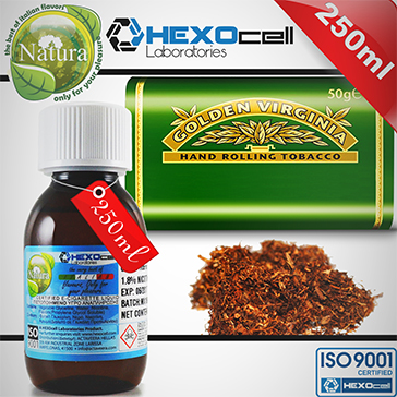 250ml VIRGINIA 18mg eLiquid (With Nicotine, Strong) - Natura eLiquid by HEXOcell