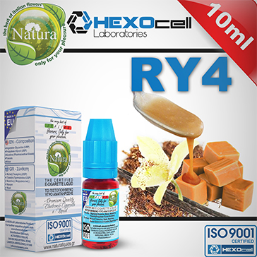 10ml RY4 9mg eLiquid (With Nicotine, Medium) - Natura eLiquid by HEXOcell