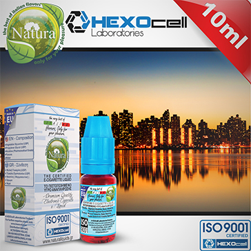 10ml MANHATTAN 18mg eLiquid (With Nicotine, Strong) - Natura eLiquid by HEXOcell