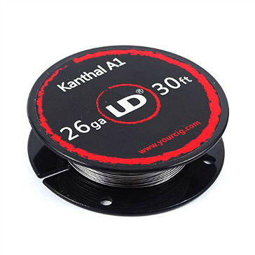 VAPING ACCESSORIES - UD Kanthal A1 26 Gauge Wire ( 30ft / 9.15m )