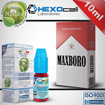 10ml MAXBORO 3mg eLiquid (With Nicotine, Very Low) - Natura eLiquid by HEXOcell