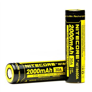 BATTERY - Nitecore IMR 18650 2000mAh 30A Battery ( Flat Top )