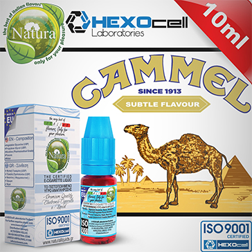 10ml CAMMEL 18mg eLiquid (With Nicotine, Strong) - Natura eLiquid by HEXOcell