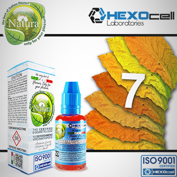 30ml 7 FOGLIE 6mg eLiquid (With Nicotine, Low) - Natura eLiquid by HEXOcell