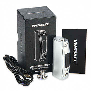 KIT - Wismec PRESA 75W TC Box Mod ( Silver )
