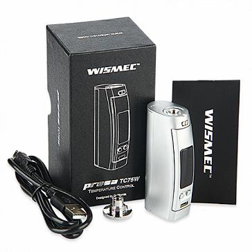 KIT - Wismec PRESA 75W TC Box Mod ( Silver )