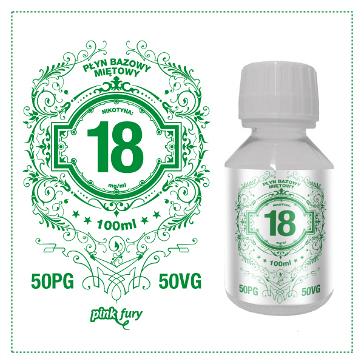 D.I.Y. - 100ml PINK FURY Menthol Base (50% PG, 50% VG, 18mg/ml Nicotine)