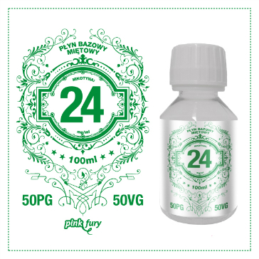 D.I.Y. - 100ml PINK FURY Menthol Base (50% PG, 50% VG, 24mg/ml Nicotine)