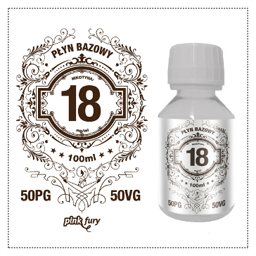 D.I.Y. - 100ml PINK FURY Neutral Base (50% PG, 50% VG, 18mg/ml Nicotine)