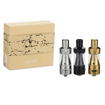 ATOMIZER - VISION / VAPROS KinTa Ceramic Coil Atomizer with RBA Kit ( Black )