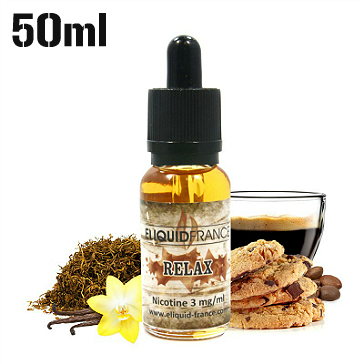50ml RELAX 3mg eLiquid (With Nicotine, Very Low) - eLiquid by Eliquid France