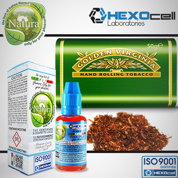 30ml VIRGINIA 9mg eLiquid (With Nicotine, Medium) - Natura eLiquid by HEXOcell