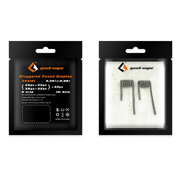 VAPING ACCESSORIES - GEEK VAPE Pre-built Staggered Fused Clapton SS316L Coils