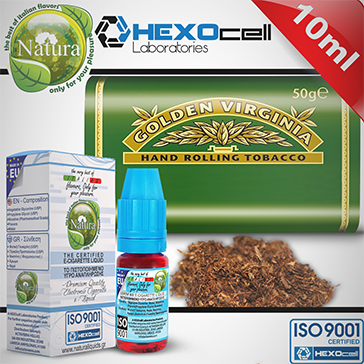 10ml VIRGINIA 12mg eLiquid (With Nicotine, Medium) - Natura eLiquid by HEXOcell