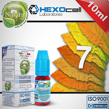 10ml 7 FOGLIE 6mg eLiquid (With Nicotine, Low) - Natura eLiquid by HEXOcell