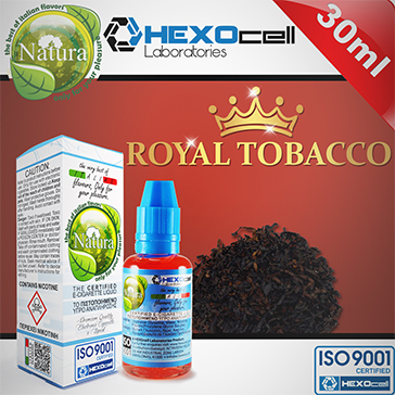 30ml ROYAL TOBACCO 3mg eLiquid (With Nicotine, Very Low) - Natura eLiquid by HEXOcell