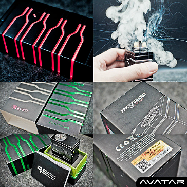 KIT - Puff AVATAR RS 75W DNA Mod ( Black )