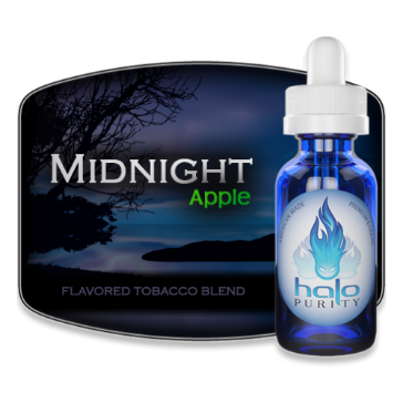 30ml MIDNIGHT APPLE 12mg eLiquid (With Nicotine, Medium) - eLiquid by Halo