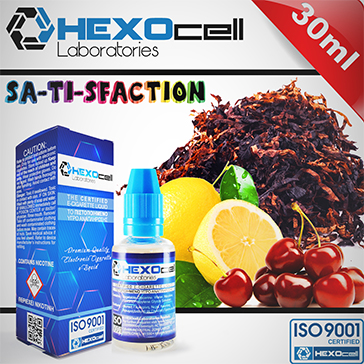 30ml SA-TI-SFACTION 3mg 80% VG eLiquid (With Nicotine, Very Low) - eLiquid by HEXOcell