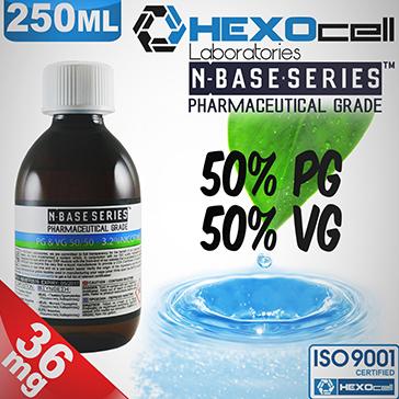 D.I.Y. - 250ml HEXOcell eLiquid Base (50% PG, 50% VG, 36mg/ml Nicotine)