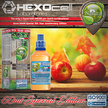 60ml FOREST APPLEZ SPECIAL EDITION 6mg High VG eLiquid (With Nicotine, Low) - Natura eLiquid by HEXOcell