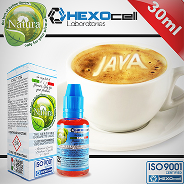 30ml JAVA COFFEE 3mg 80% VG eLiquid (With Nicotine, Very Low) - Natura eLiquid by HEXOcell