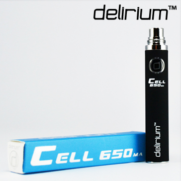 BATTERY - DELIRIUM CELL 650mA eGo/eVod Top Quality ( Black )