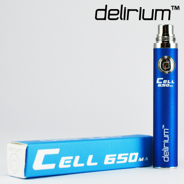 BATTERY - DELIRIUM CELL 650mA eGo/eVod Top Quality ( Blue )
