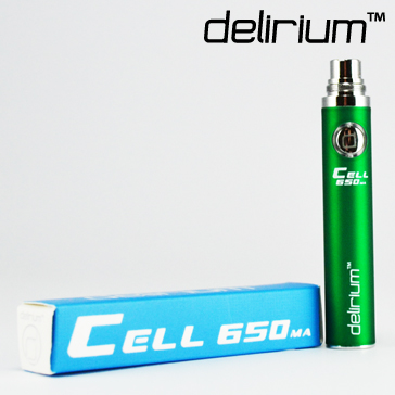BATTERY - DELIRIUM CELL 650mA eGo/eVod Top Quality ( Green )