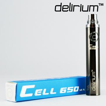 BATTERY - DELIRIUM CELL 650mA eGo/eVod Top Quality ( Gun Metal )