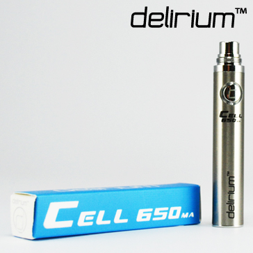 BATTERY - DELIRIUM CELL 650mA eGo/eVod Top Quality ( Stainless )