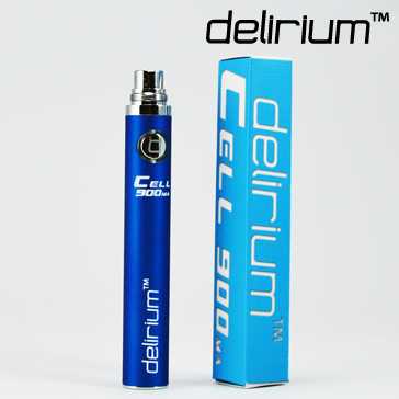 BATTERY - DELIRIUM CELL 900mA eGo/eVod Top Quality ( Blue )