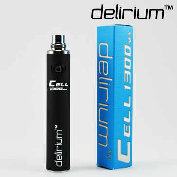 BATTERY - DELIRIUM CELL 1300mA eGo/eVod Top Quality ( Black )