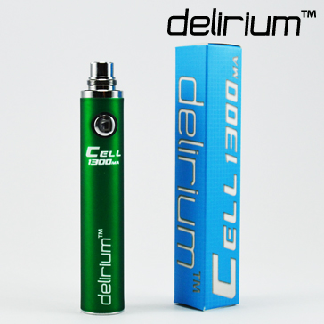BATTERY - DELIRIUM CELL 1300mA eGo/eVod Top Quality ( Green )