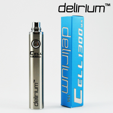 BATTERY - DELIRIUM CELL 1300mA eGo/eVod Top Quality ( Stainless )