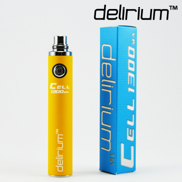 BATTERY - DELIRIUM CELL 1300mA eGo/eVod Top Quality ( Yellow )
