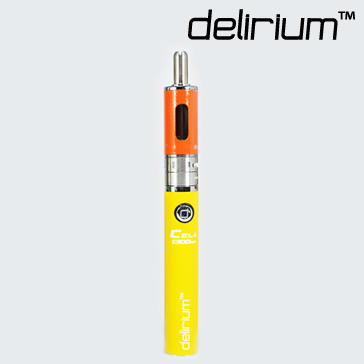 KIT - Kanger Aerotank Mow & delirium Cell 1300mAh Battery ( Variable Airflow eGo / eVod APV Kit - Yellow )