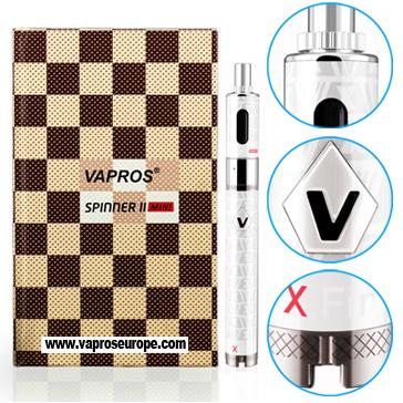 KIT - VISION / VAPROS Spinner 2 (II) Mini 850mA VV BDC Kit ( 3.3V - 4.8V ) - 100% Authentic ( White )
